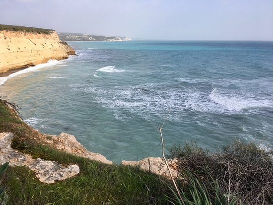 Avdimou, Cyprus: Looking east from the ridge at east end of beach.