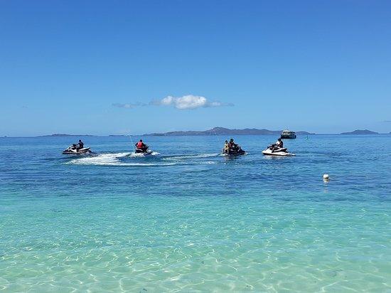 Treasure Island Resort: Jet skis heading out