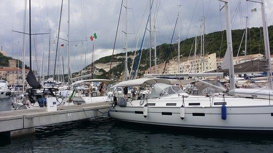Many yachts and boats