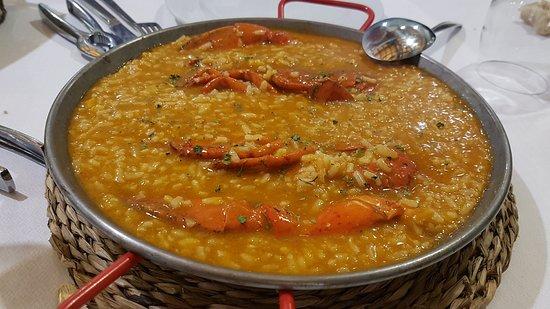 Muskiz, Spanien: Arroz con bogavante