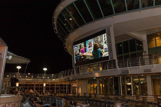 Outdoor Movie Screen on Navigator of the Seas