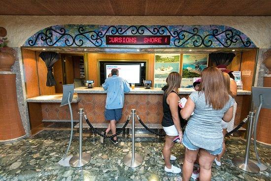 Shore Excursions Desk on Carnival Liberty