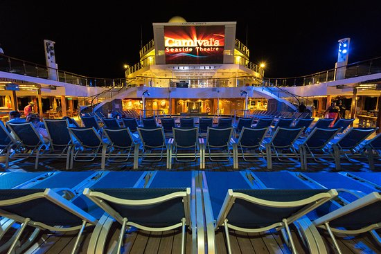 Carnival's Seaside Theatre on Carnival Liberty