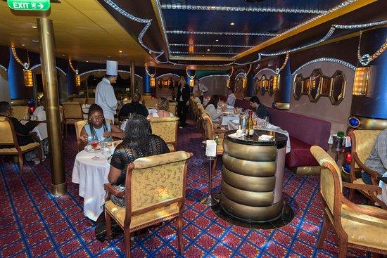Diamonds Steakhouse on Carnival Liberty
