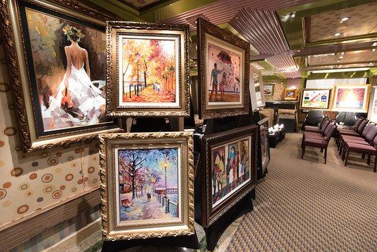 Satin Room Art Gallery on Carnival Liberty