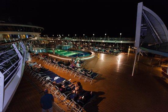Outdoor Movie Screen on Grandeur of the Seas
