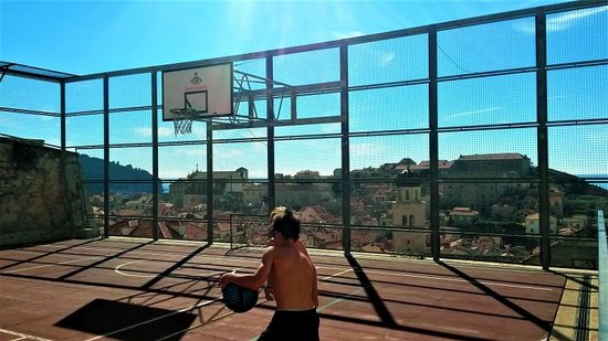 Dubrovnik, Croatia: Basketball in the Old Town still to be played...(: