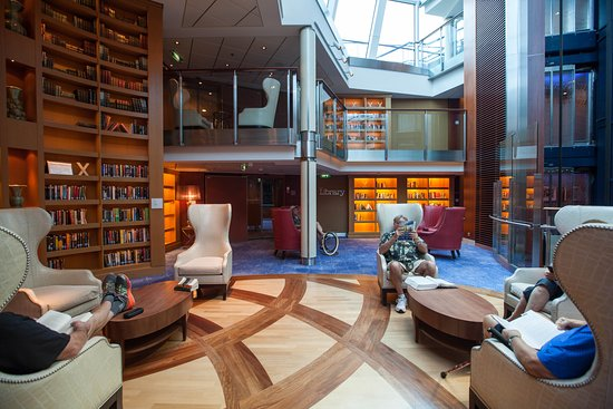 The Library on Celebrity Equinox
