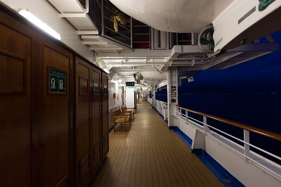 The Promenade Deck on Crown Princess