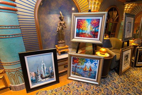 Art Auction on Crown Princess
