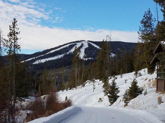 Polaris, MT: View of Maverick Ski Area from Elkhorn Hot Springs Resort.