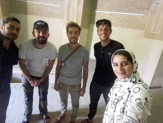 Qom Province, Iran: First time as a leader with 3 French boys; never forget their smiles and polite behavior. We spend a day together and they really enjoyed their stay at Qom. This photo is taken at 3 green domes, where the roller of Seljuk era are buried.