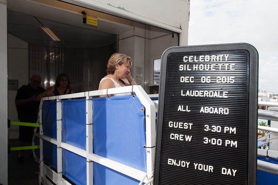 Celebrity Silhouette: Boarding Area on Celebrity Silhouette