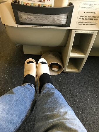 Korean Air: Slippers were a pinch small for me. :)