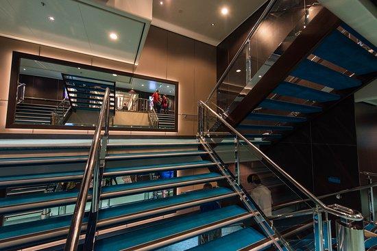 Stairs on Norwegian Breakaway
