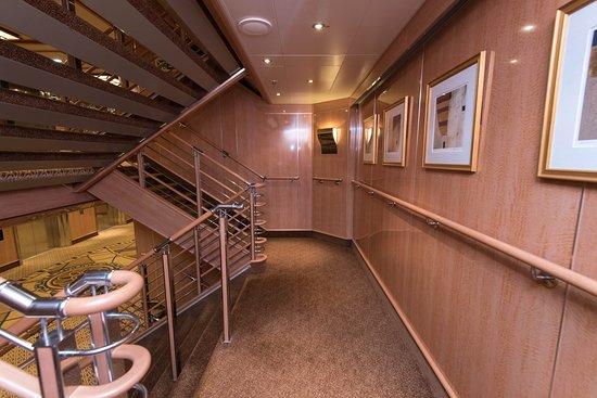 Stairs on Royal Princess