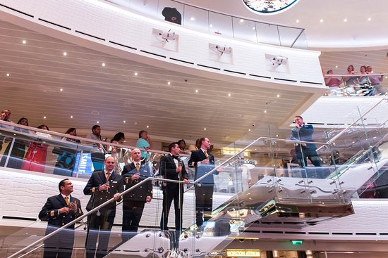 Captain's Welcome Aboard in The Atrium on Carnival Horizon
