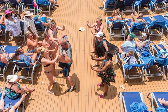 Hairiest Man Competition on Carnival Horizon