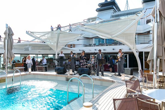 Officers on Deck Event on Seabourn Ovation