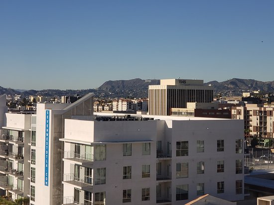 The Mayfair Hotel View From Room 1001 You Can Just See Hollywood Sign