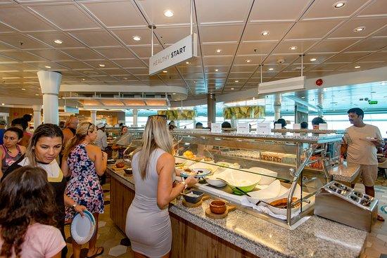 Breakfast in Windjammer Marketplace on Mariner of the Seas