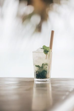 Sugar Beach Talpe: Classic mojito and 100% natural bamboo straws used in all our drinks offering