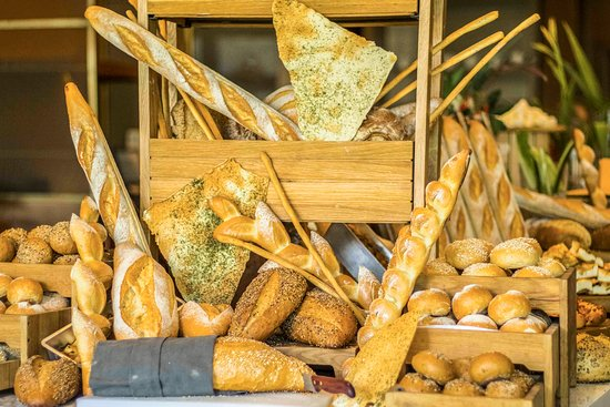 Mosaic: Freshly baked bread selection