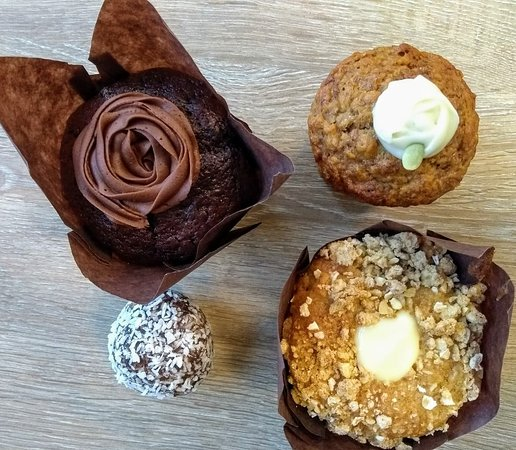 Selection of home made vegan muffins
