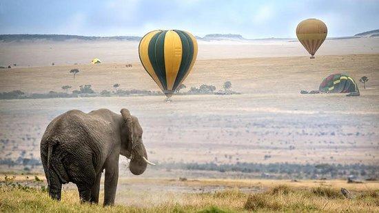 balloon safari in serengeti