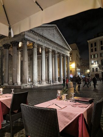 View From The Restaurant Picture Of Hostaria Pantheon
