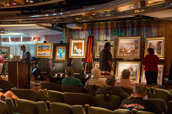 Art Auction in Some Enchanted Evening Lounge on Vision of the Seas