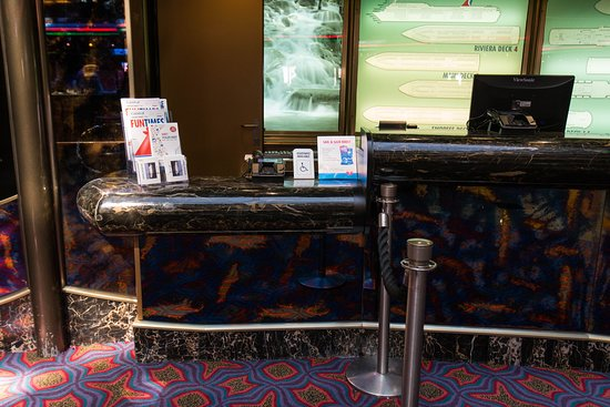 Guest Services Desk on Carnival Inspiration