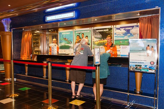 Shore Excursions Desk on Carnival Glory