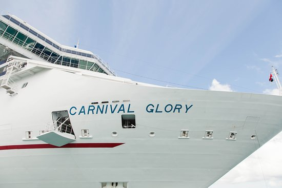 Ship Exterior on Carnival Glory