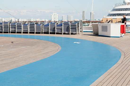 Outdoor Jogging Track on Carnival Glory