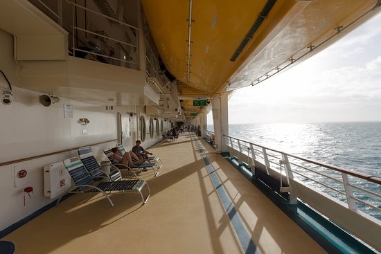 Port and Starboard Decks on Voyager of the Seas