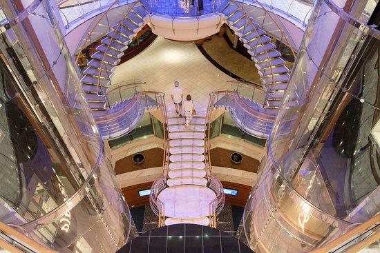 The Centrum Atrium on Voyager of the Seas