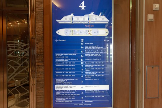 Hallways on Voyager of the Seas