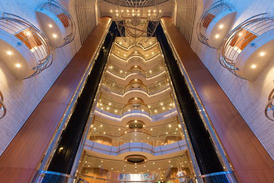 The Centrum Atrium on Voyager of the Seas