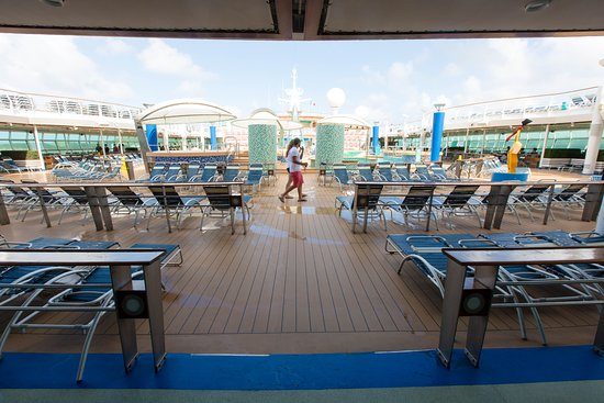 The Pool Deck on Voyager of the Seas