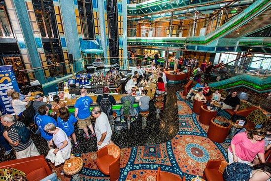 Seven Seas Lobby Bar on Carnival Victory