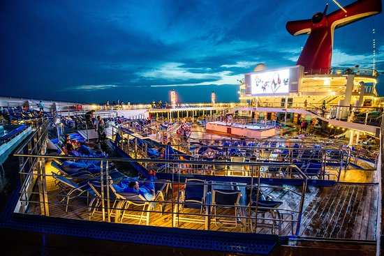 Outdoor Movie Screen on Carnival Victory