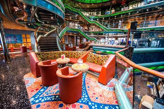 Seven Seas Lobby Bar on Carnival Victory