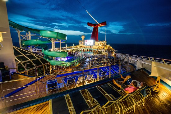 The Twister Waterslide on Carnival Victory