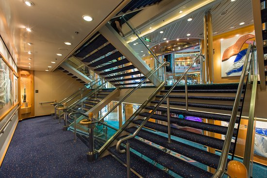 Stairs on Radiance of the Seas