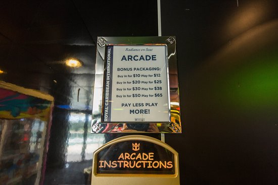 Challenger's Video Arcade on Radiance of the Seas
