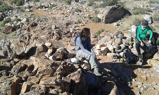 The road to Mount Alkast heights is the most attractive tourist area known Sidi Ibrahim Ali