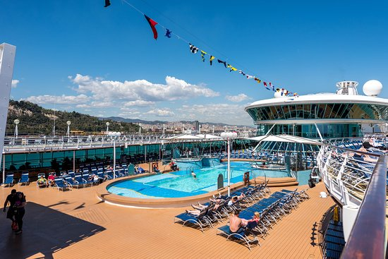 The Main Pool on Rhapsody of the Seas