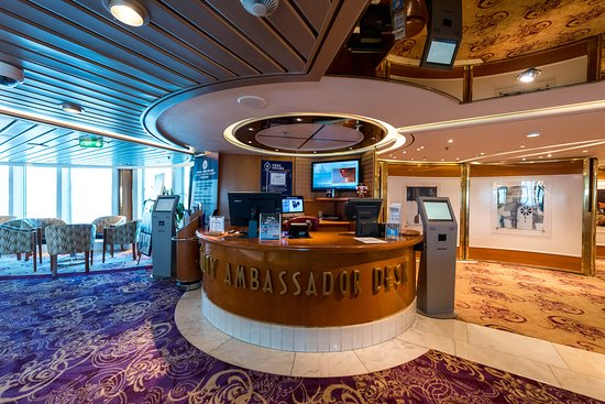 Rhapsody of the Seas: Loyalty Ambassador Desk on Rhapsody of the Seas