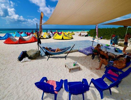 Chairs, hammocks, wifi and so on!